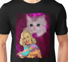 Vintage Pin Up Space - CAT EDITION Unisex T-Shirt