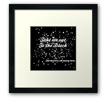 The Black in White Framed Print