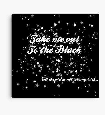 The Black in White Canvas Print