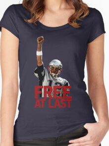 Tom Brady: Free At Last! Women's Fitted Scoop T-Shirt