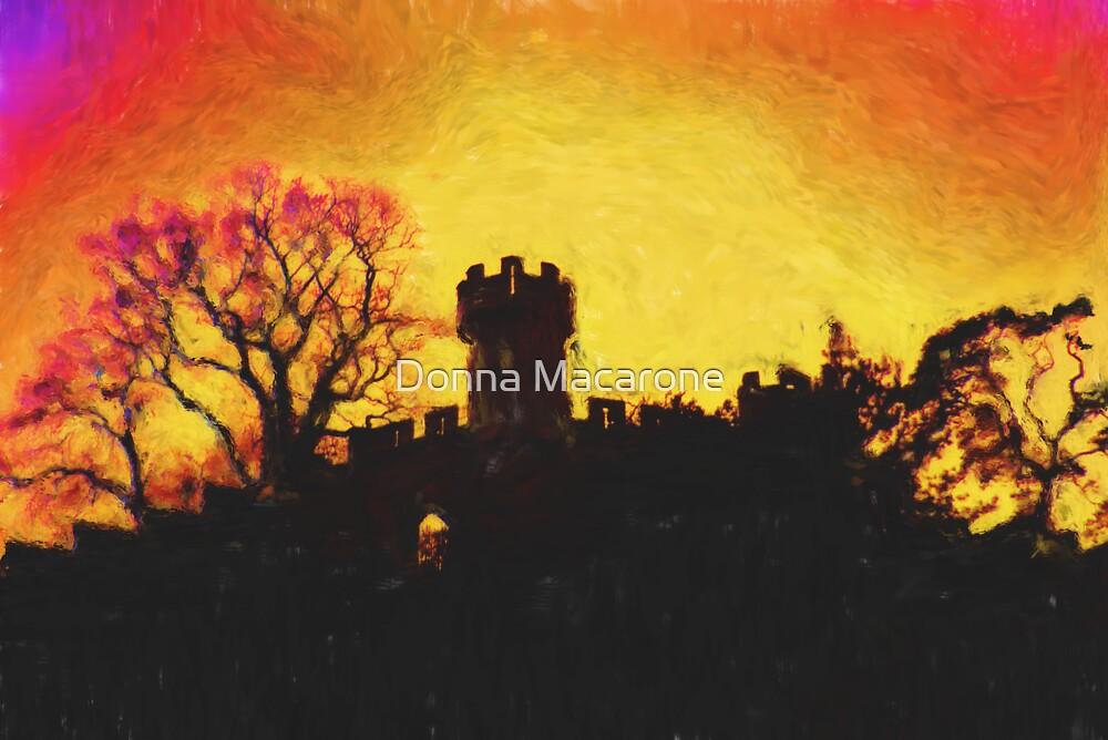 Warwick Castle - Ethelfleda's Mound by Donna Macarone
