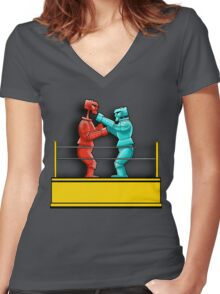 Sock em Rock em Women's Fitted V-Neck T-Shirt