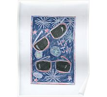 4th of July 3-D glasses Poster