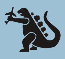 Godzilla Crushing Plane by astropop
