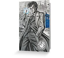 The Tenth Doctor  Greeting Card