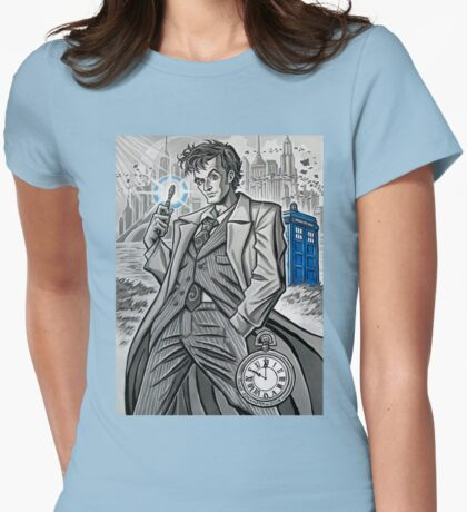 The Tenth Doctor  Womens Fitted T-Shirt
