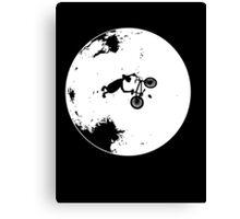 ET Extraterrestrial Moon BMX Trick Canvas Print