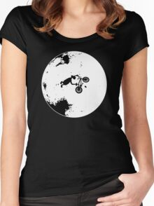 ET Extraterrestrial Moon BMX Trick Women's Fitted Scoop T-Shirt