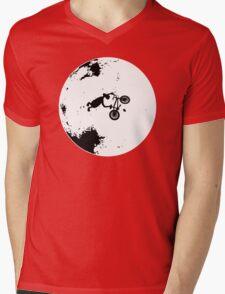 ET Extraterrestrial Moon BMX Trick Mens V-Neck T-Shirt