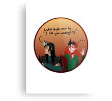 Melkor and sauron lost a ring Metal Print