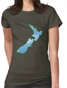 NEW ZEALAND MAP  Womens Fitted T-Shirt