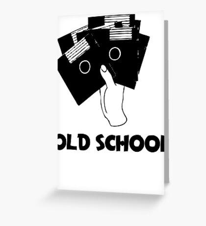 Retro Old School Floppy Disk Greeting Card