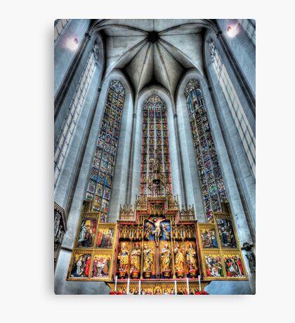 St. James Cathedral, Rothenburg ob der Tauber. Canvas Print