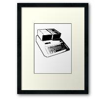 Vintage Retro Apple II Computer Stencil Framed Print