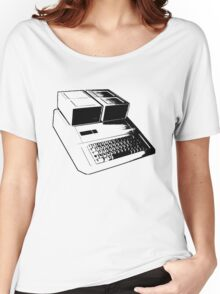 Vintage Retro Apple II Computer Stencil Women's Relaxed Fit T-Shirt