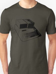 Vintage Retro Apple II Computer Stencil T-Shirt