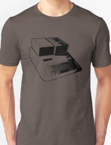Vintage Retro Apple II Computer Stencil T-Shirt