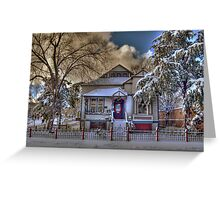 The Decorated Little House in The Snow Greeting Card
