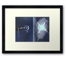 x marks the spot Framed Print