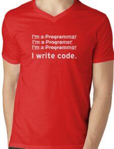 I Write Computer Code Mens V-Neck T-Shirt