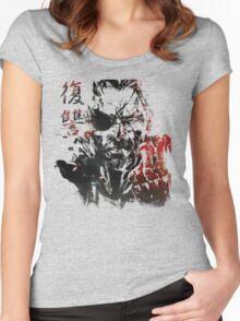 MGSV - All For Revenge (Japanese Kanji) Women's Fitted Scoop T-Shirt