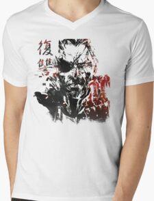 MGSV - All For Revenge (Japanese Kanji) Mens V-Neck T-Shirt