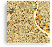 NEW DELHI MAP Canvas Print