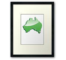 Australia Map simple in green Framed Print