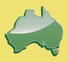 Australia Map simple in green One Piece - Short Sleeve