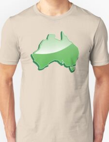 Australia Map simple in green Unisex T-Shirt