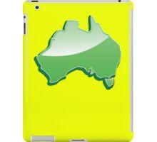 Australia Map simple in green iPad Case/Skin