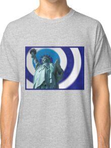 Liberty Blur Blue Classic T-Shirt