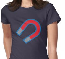 Magnet in red and blue Womens Fitted T-Shirt