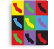 Pop Art California Canvas Print