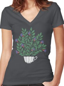 A Cup of Tea (Jasmine) Women's Fitted V-Neck T-Shirt