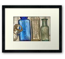Old Medicine Bottles Framed Print
