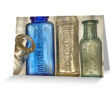 Old Medicine Bottles Greeting Card