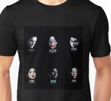 teen wolf series 3b faces Unisex T-Shirt
