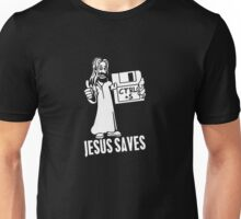 Jesus Saves Floppy Disk Unisex T-Shirt