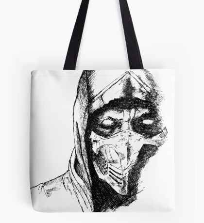 Scorpion Mortal Kombat X Tote Bag