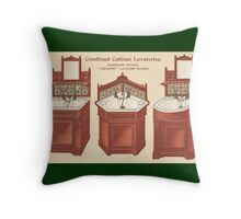 Bathroom Picture Wash stand Three Throw Pillow