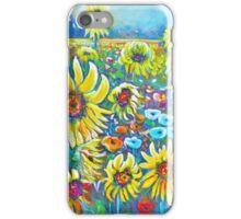 Sunflower & Poppy Field iPhone Case/Skin