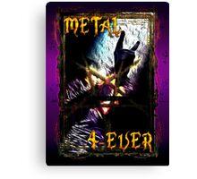 HEAVY METAL or METAL HORNS. Canvas Print
