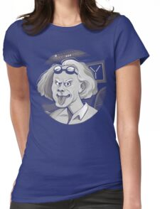 Doc Brown loves Einstein Womens Fitted T-Shirt