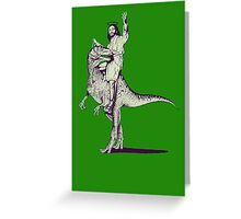 Jesus Riding Dinosaur Greeting Card