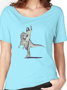 Jesus Riding Dinosaur Women's Relaxed Fit T-Shirt