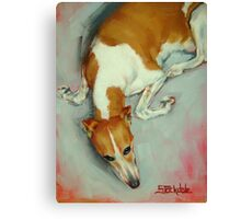 Chloe The Whippet Canvas Print