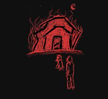Burning House With Lookers-On Unisex T-Shirt