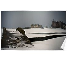 Old Course in the Snow Poster