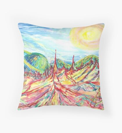 Melting Planet  Throw Pillow